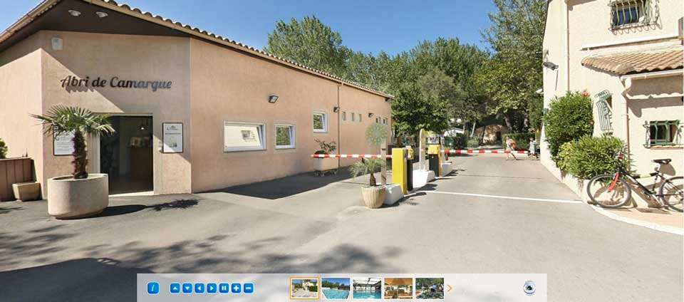 Virtual Tour of the campsite Abri de Camargue