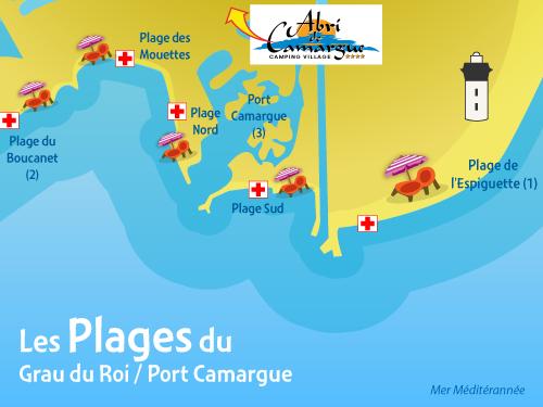 Camargue Karte.Strände In Camargue