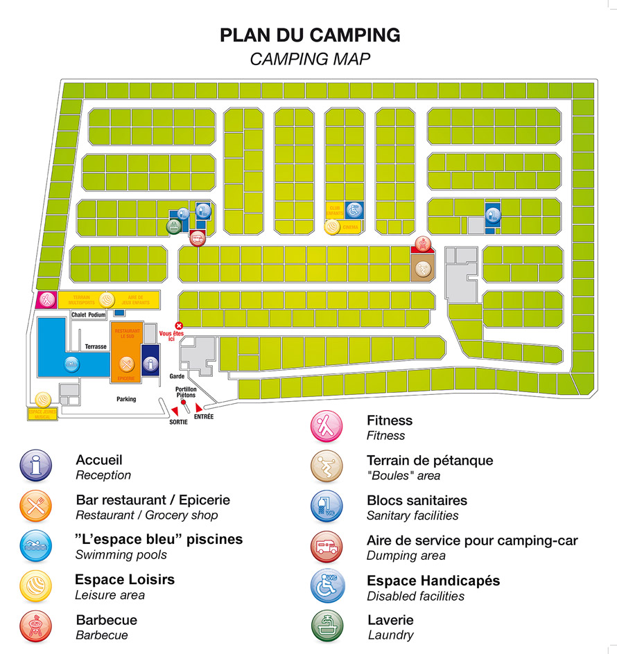 plan du camping abri de camargue. Black Bedroom Furniture Sets. Home Design Ideas