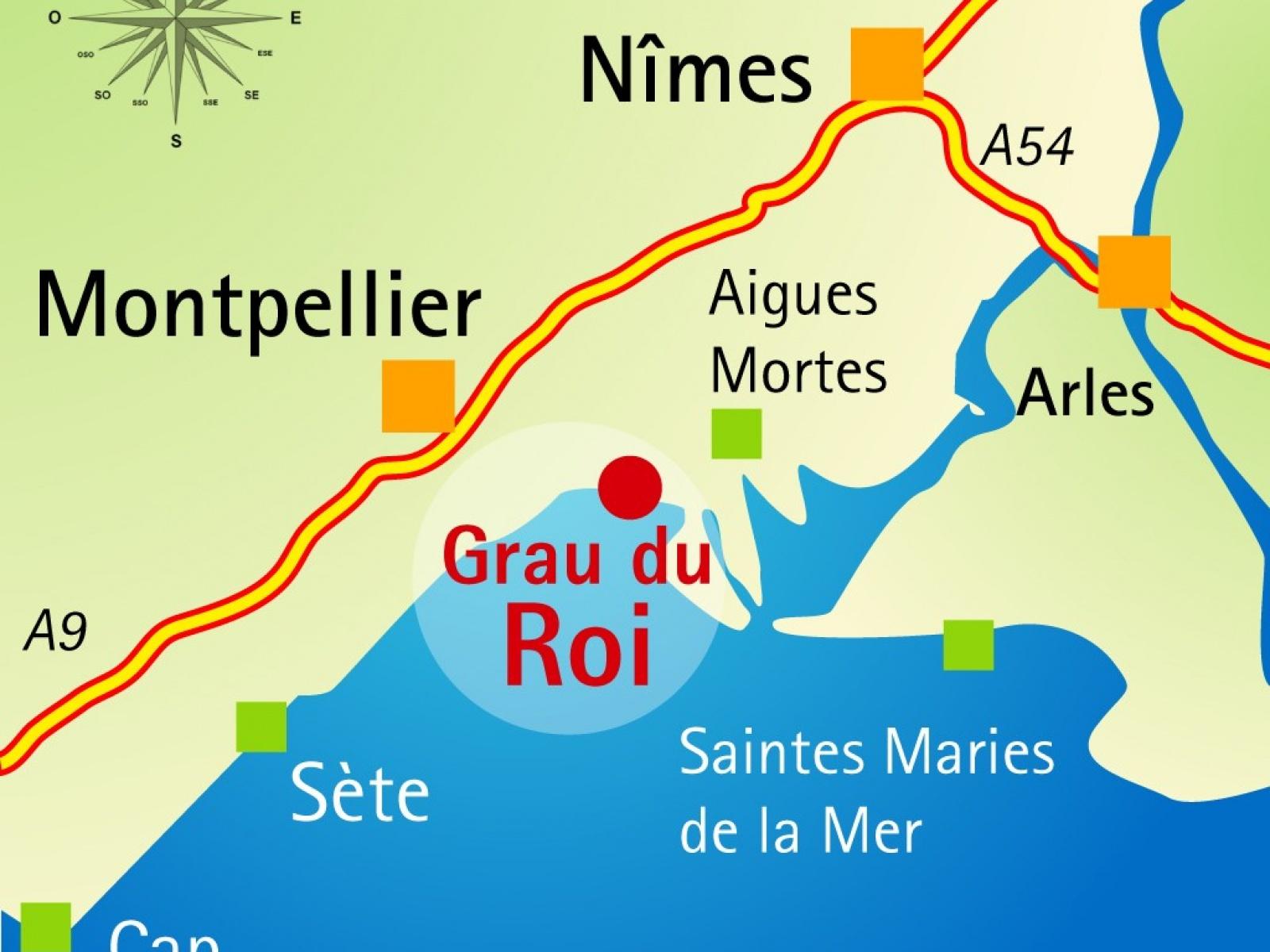 La plage de l 39 espiguette est seulement 3kms du camping l 39 abri de camargue - Les jardins d arcadie le grau du roi ...